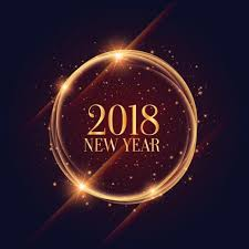 shiny 2018 new year frame with sparkles background 2018 png and vector
