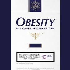 Cancer Research UK's latest ad campaign - comparing obesity to smoking.