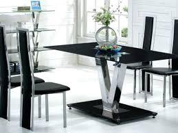 black glass table set black glass dining table and 6 black chairs set glass dining table