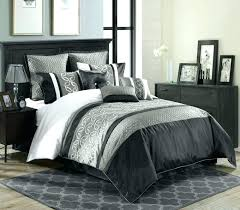 gray bedding ideas modern bedroom design with comforter and headboard in also drawer for grey white