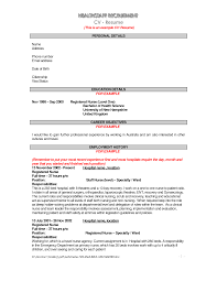 A Good Resume Sample For A Job Sample Of A Resume For A Job