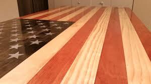 american flag themed coffee table