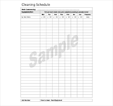 monthly house cleaning schedule template weekly kitchen cleaning schedule week create a weekly cleaning