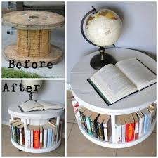 furniture upcycle ideas. Turn A Cable Spool Into Bookshelf...awesome Upcycle Idea! Furniture Ideas H