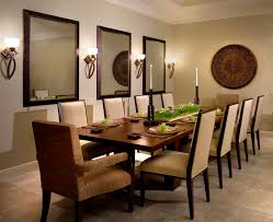 round decorative mirror dining room contemporary with upholstered dining chairs floor tile wall decor