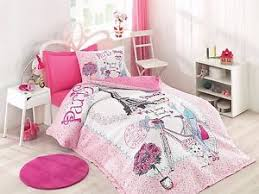 Girls Paris Bedding Set Eiffel Tower Quilt&Duvet Cover Set,Single ... & Image is loading Girls-Paris-Bedding-Set-Eiffel-Tower-Quilt-amp- Adamdwight.com