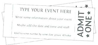 Related Post Template For Making Tickets Free Make Your Own Event