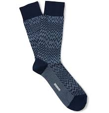 Missoni Zig-Zag Patterned Cotton-Blend Socks | <b>Носки</b>