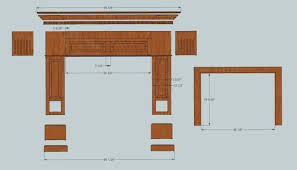 Fireplace mantel plans Fireplace Surround Diyfireplacesketchupmodelcolesupdentilmnolding Diyfireplacesketchupmodelbottom Diyfireplacesketchupmodelexplodedwithdimensions 2manyprojects Diy Fireplace Mantel 2manyprojects