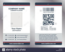 Simple Employee Business Name Card Template Vector Stock