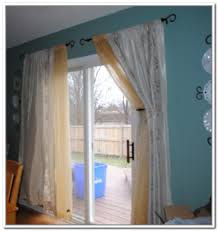 patio sliding glass doors home design style ideas the pertaining to curtains