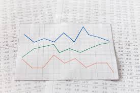 Graph Paper On Digital Stock Market Photo Premium Download