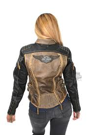 harley davidson womens capitol winged b s vintage brown leather jacket