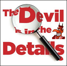 Image result for the devils is in the details