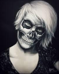 acjub 436 236 skull make up painting by straewefin