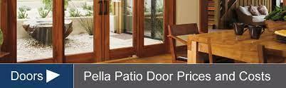 pella door s costs for sliding