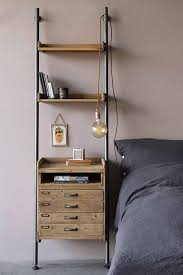 industrial style ladder shelf unit with 2 drawers tap to expand