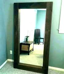 rustic floor mirror wood frame full length
