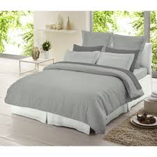 dormisette light grey chambray 100 brushed cotton duvet cover