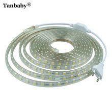 US $4.40 Tanbaby <b>SMD 5050 AC220V</b> RGB LED Strip Light ...