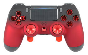 Why Is My Ps4 Controller Light Red Ps4 Elite Soft Touch Red Chrome Custom Controller With