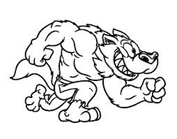 Super Coloring Pages Wolf Werewolf Printable Page W Stunning
