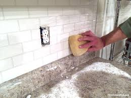 How To Grout Tile Backsplash Awesome How To Install A Kitchen Backsplash The Best And Easiest Tutorial