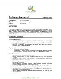 Simple Restaurant Manager Duties And Responsibilities Resume