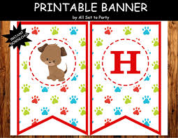 Dog Birthday Decorations Puppy Birthday Banner Puppy Party Decorations Puppy Theme
