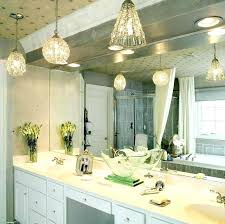 pendant light appealing hanging bathroom fixtures mini lights design with white vanity cabinet and sink also