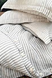 grey striped bedding stonewashed linen duvet cover by stripe sheet set