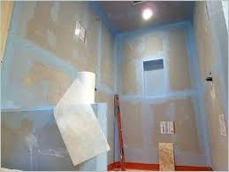 waterproofing shower walls tile a inviting how to waterproof and walk in paint for concrete floor