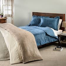 oversized microsuede saddle 3 piece duvet cover set