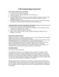 Cym Incident Reporting Form