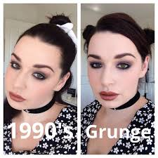 grunge glam 1990s makeup tutorial