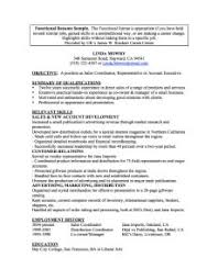 Example Of Functional Resumes Resume Functional Magdalene Project Org