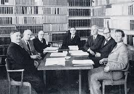 Modern reception desk set nobel office Corian Meeting Of Ther Medical Nobel Committee In 1959 from Liljestrand 1960 Rossmoor News History The Nobel Prize In Physiology Or Medicine