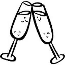 Kleurplaat Champagne Proost Malvorlagen Essen Und Trinken Frchte