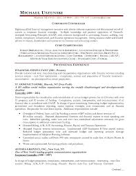 Sample Financial Controller Resume Professional Financial And
