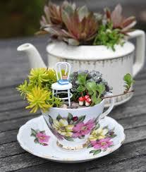 Small Fairy Garden Tea Party Ideas