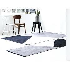 black white striped wool rug horizon grey big solid