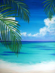 painting idea palm tree k at the beach easy beginner ideas sunset painting idea