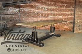 unique industrial furniture. Unique Industrial Antique Furniture With Post Table Vintage I