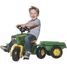 kettler john deere kids ride on toy 3 wheel pedal tractor trailer
