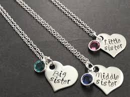 3 best friend necklace 3 sisters