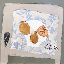 Christie Bird Paintings | Pomegranates & Shells | White Space Art