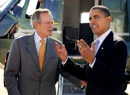 u s department of defense photo essay former president george h w bush left talks president barack obama after arriving in