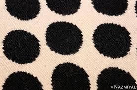 black circle rug vintage round black and white polka dot rug at