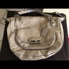 discount coach python embossed leather satchel bag 8d925 2e1cf