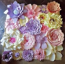 paper flowers wall decor wedding decor home decor paper